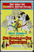 "Movie Posters:Animated, 101 Dalmatians (Buena Vista, 1961). One Sheet (27"" X 41"").Animated...."