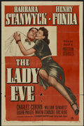 "Movie Posters:Comedy, The Lady Eve (Paramount, R-1949). One Sheet (27"" X 41"") Style A. Comedy...."