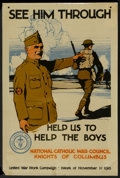 "Movie Posters:War, World War I Propaganda Poster (National Catholic War Council,1918). Poster (20"" X 30""). War...."