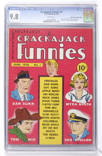 Crackajack Funnies #1 Mile High pedigree (Dell, 1938) CGC NM/MT 9.8 White pages