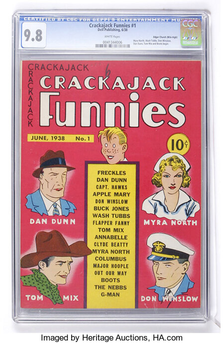 Crackajack Funnies #1 Mile High pedigree (Dell, 1938) CGC NM/MT 9.8 White pages....