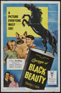 "Movie Posters:Adventure, Courage of Black Beauty (20th Century Fox, 1957). One Sheet (27"" X41""). Adventure...."