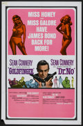 "Movie Posters:James Bond, Goldfinger/Dr. No Combo (United Artists, R-1966). One Sheet (27"" X 41""). James Bond...."