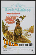 """Movie Posters:Adventure, Tarzan and the Great River (Paramount, R-1974). One Sheet (27"""" X41"""") Family Style. Adventure...."""
