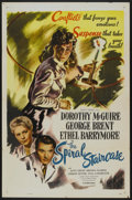 "Movie Posters:Thriller, The Spiral Staircase (Selznick, R-1956). One Sheet (27"" X 41"").Thriller...."