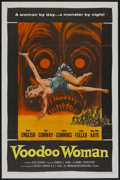 "Movie Posters:Horror, Voodoo Woman (American International, 1957). One Sheet (27"" X 41"").Horror...."