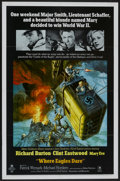 """Movie Posters:War, Where Eagles Dare (MGM, 1968). One Sheet (27"""" X 41""""). War...."""