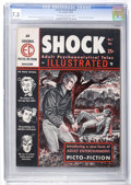 Magazines:Crime, Shock Illustrated #1 (EC, 1955) CGC VF- 7.5 Cream to off-whitepages....