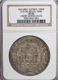 Azores, Azores: Portuguese Colonial 1200 Reis Crowned GP Countermark(1887),...