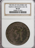 Colombia, Colombia: Republic 8 Reales 1821BA-JF,...