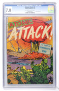 Golden Age (1938-1955):War, Atomic Attack #5 (Youthful Magazines, 1953) CGC FN/VF 7.0 Off-whiteto white pages....