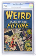 Golden Age (1938-1955):Horror, Weird Tales of the Future #1 (Aragon, 1952) CGC FN/VF 7.0 Off-whiteto white pages....