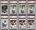 Hockey Cards:Lots, 1975-77 Topps Hockey PSA-Graded Group Lot of 8....