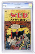 Golden Age (1938-1955):Horror, Web of Mystery #9 (Ace, 1952) CGC NM- 9.2 Off-white to whitepages....