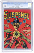 Golden Age (1938-1955):Crime, Suspense Comics #10 (Continental Magazines, 1945) CGC FN- 5.5 Off-white to white pages....