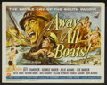 "Movie Posters:War, Away All Boats (Universal International, 1956). Title Lobby Cardand Lobby Card (11"" X 14""). War.... (Total: 2 Items)"