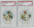 Baseball Cards:Lots, 1970 Topps Candy Lids PSA-Graded Group Lot of 2....