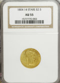 Early Quarter Eagles: , 1804 $2 1/2 14 Star Reverse AU55 NGC. NGC Census: (8/41). PCGSPopulation (8/32). Numismedia Wsl. Price for NGC/PCGS coin ...