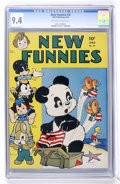 Golden Age (1938-1955):Funny Animal, New Funnies #76 (Dell, 1943) CGC NM 9.4 Off-white to whitepages....