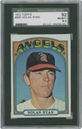 Baseball Cards:Singles (1970-Now), 1972 Topps Nolan Ryan #595 SGC 92 NM/MT+ 8.5....