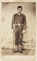 Military & Patriotic:Civil War, Birney's Zouave CDV. Here is a clear, full standing view of an unidentified member of the 23rd Pa. Vol. Infantry in his dist...