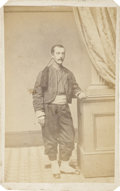 Military & Patriotic:Civil War, Collis Zouave Carte de Visite. This is a nicely-posed view of a member of the 114th Pa. Vol. Infantry in his ful...