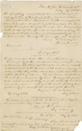 """Autographs:Military Figures, Confederate Secretary of War James Seddon: Very Important 8¼"""" X 13"""" Manuscript Document Signed, Dated May 27,1864, Concerning ..."""