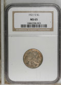 Buffalo Nickels: , 1921-S 5C MS65 NGC. NGC Census: (31/3). PCGS Population (52/8).Mintage: 1,557,000. Numismedia Wsl. Price for NGC/PCGS coin...