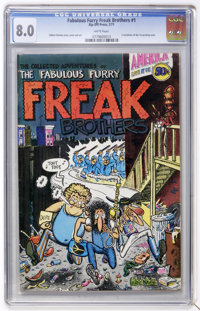 The Fabulous Furry Freak Brothers #1 (Rip Off Press, 1971) CGC VF 8.0 White pages