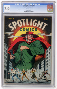 Spotlight Comics #2 (Chesler, 1945) CGC FN/VF 7.0 Off-white pages