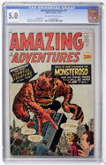 Silver Age (1956-1969):Horror, Amazing Adventures #5 (Marvel, 1961) CGC VG/FN 5.0 Off-white towhite pages....