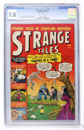 Golden Age (1938-1955):Horror, Strange Tales #2 (Atlas, 1951) CGC FN/VF 7.0 Off-white pages....