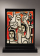 FERNAND LÉGER (French, 1881-1955) Les Femmes au Perroquet (Women and Parrot), 1952 Partially glazed ceramic (C&ea...