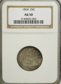 Seated Quarters: , 1864 25C AU50 NGC. NGC Census: (2/38). PCGS Population (1/51).Mintage: 93,600. Numismedia Wsl. Price for NGC/PCGS coin in ...