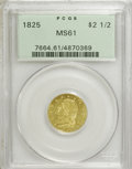 Early Quarter Eagles: , 1825 $2 1/2 MS61 PCGS. PCGS Population (10/13). NGC Census:(12/15). Mintage: 4,434. Numismedia Wsl. Price for NGC/PCGS coi...