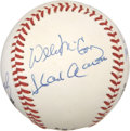Autographs:Baseballs, Hall of Fame Hitters Multi-Signed Baseball....