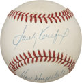 Autographs:Baseballs, Sandy Koufax and Don Drysdale Dual-Signed Baseball....