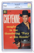 Silver Age (1956-1969):Western, Four Color #803 Cheyenne (Dell, 1957) CGC NM 9.4 Off-whitepages....