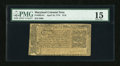 Colonial Notes:Maryland, Maryland April 10, 1774 $1/6 PMG Choice Fine 15....
