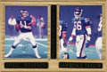 Football Collectibles:Photos, Phil Simms And Lawrence Taylor Multi Signed Plaque. ...
