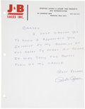 Autographs:Others, Circa 1985 Pete Rose Signed Letter & Photograph....