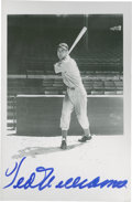 Autographs:Post Cards, Ted Williams Signed Brace Postcard....