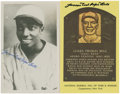 "Autographs:Post Cards, James ""Cool Papa"" Bell Signed Postcards Lot of 2...."