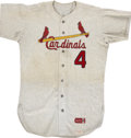 Baseball Collectibles:Uniforms, 1968 St. Louis Cardinals Game Used Minor League Jersey....