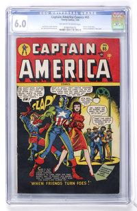 Captain America Comics #65 (Timely, 1948) CGC FN 6.0 Off-white to white pages