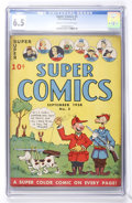 Golden Age (1938-1955):Miscellaneous, Super Comics #5 (Dell, 1938) CGC FN+ 6.5 Cream to off-white pages....