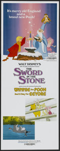 "Movie Posters:Animated, The Sword in the Stone/Winnie the Pooh and a Day for Eeyore Combo(Buena Vista, 1983). Insert (14"" X 36""). Animated...."
