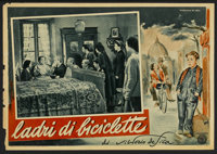 "The Bicycle Thief (Ente Nazionale Industrie Cinematografiche (ENIC), 1948). Italian Photobusta (13"" X 19""). Fo..."