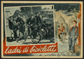 """Movie Posters:Foreign, The Bicycle Thief (Ente Nazionale Industrie Cinematografiche (ENIC), 1948). Italian Photobusta (13"""" X 19""""). Foreign...."""