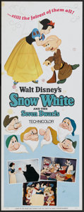 "Movie Posters:Animated, Snow White and the Seven Dwarfs (Buena Vista, R-1967). Insert (14"" X 36""). Animated...."